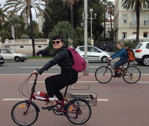suzie on bike tour in paris