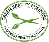 Federico Beauty Institute is a Green Beauty Business, the image is the logo or badge for that.
