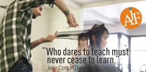 AJF Salon - Who dares to teach must never cease to learn