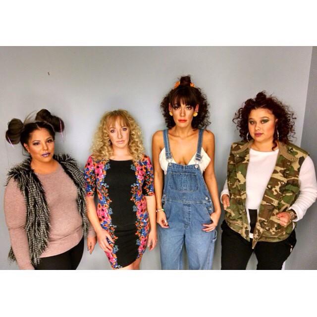 From left- Lianna F, Theresa P, Amanda I, Barbara G