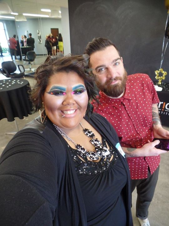 Cosmo Student Iesha and Federico Creative Director Adam Federico