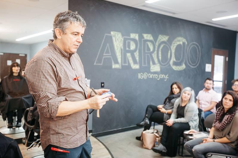 Nick Arrojo speaking to students. Photo by Nicholas Wray