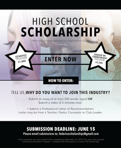 A poster announcing a scholarship for senior high school students