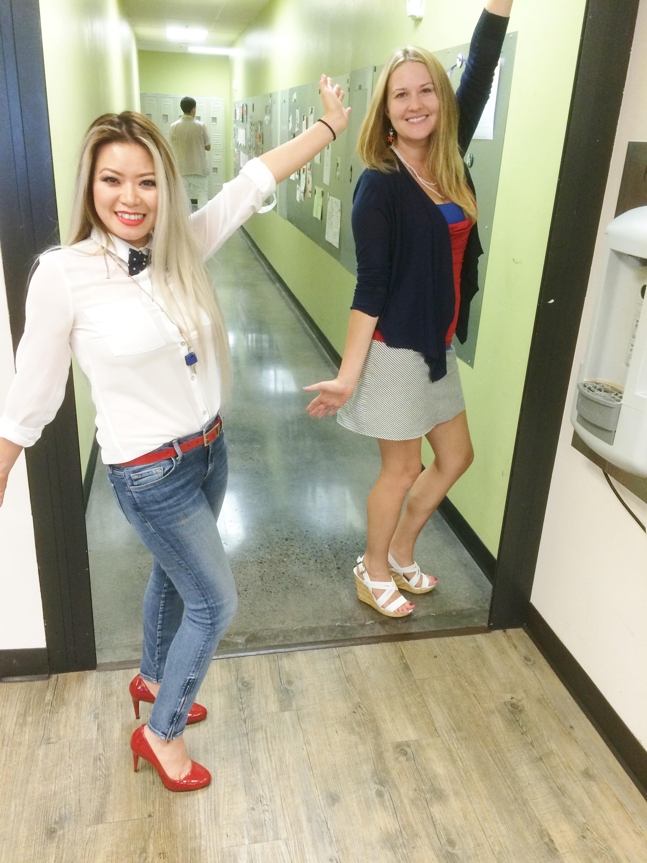 Cosmo student Van with Esti educator Ms. Kelly