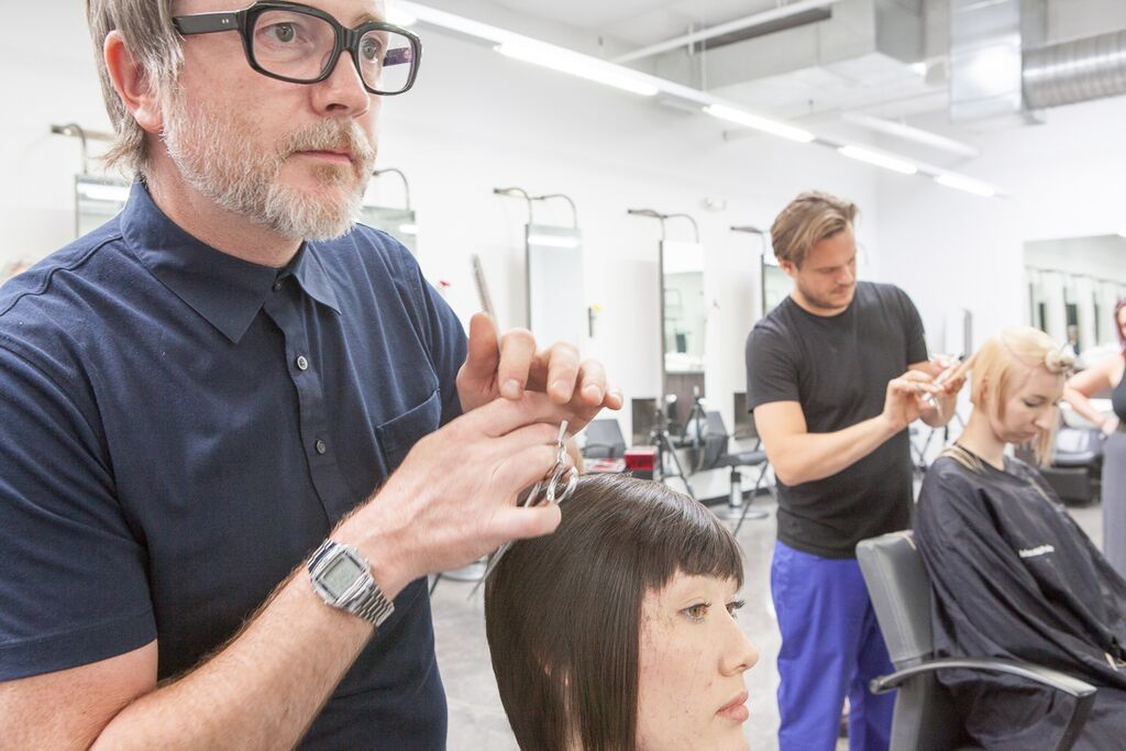 Dove and Jean-Baptiste Mazella prepping their models