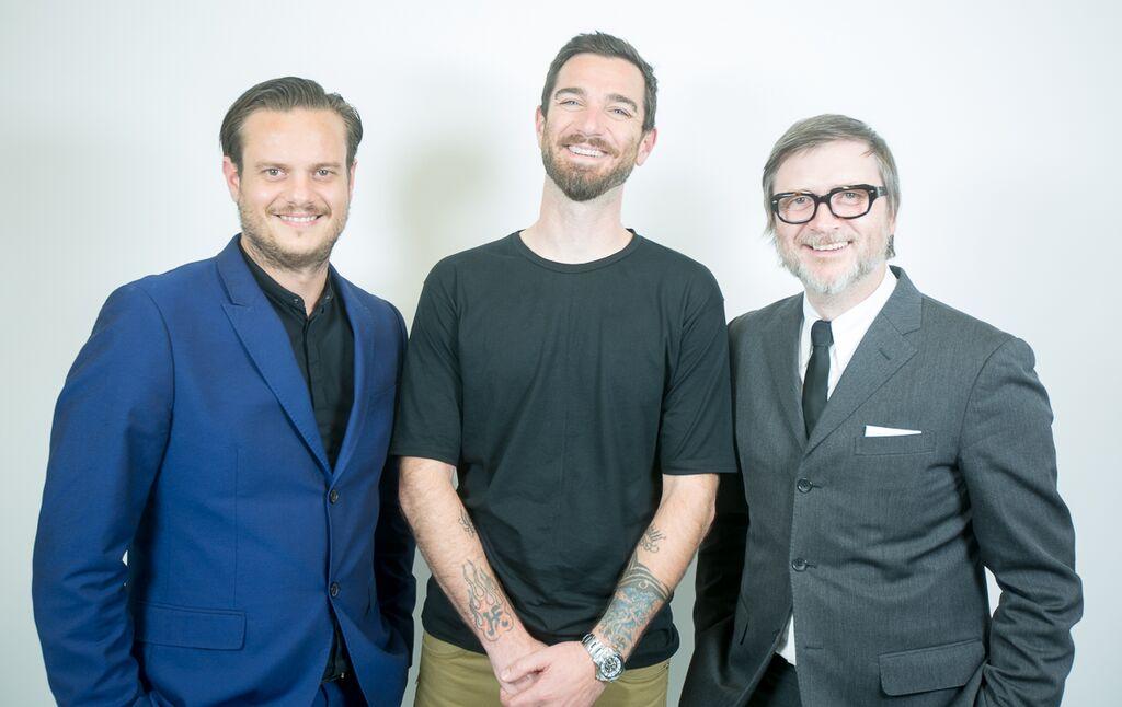 Left to right: Jean-Baptiste Mazella, Adam Federico, Dove Palmer