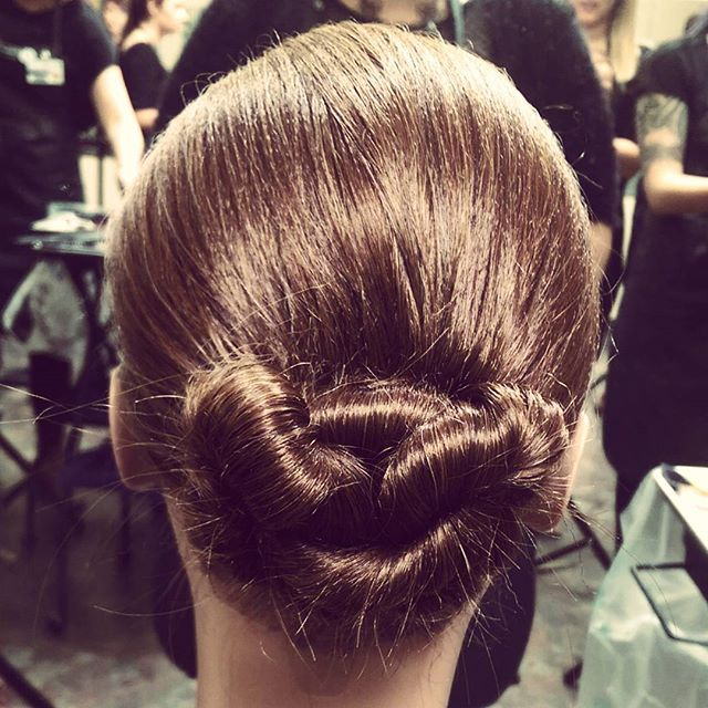 Low Bun by Federico Student Angie Z.