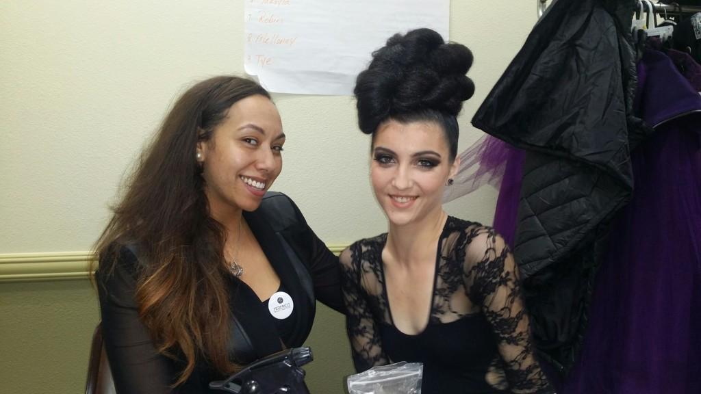 Students Ebony and Christina