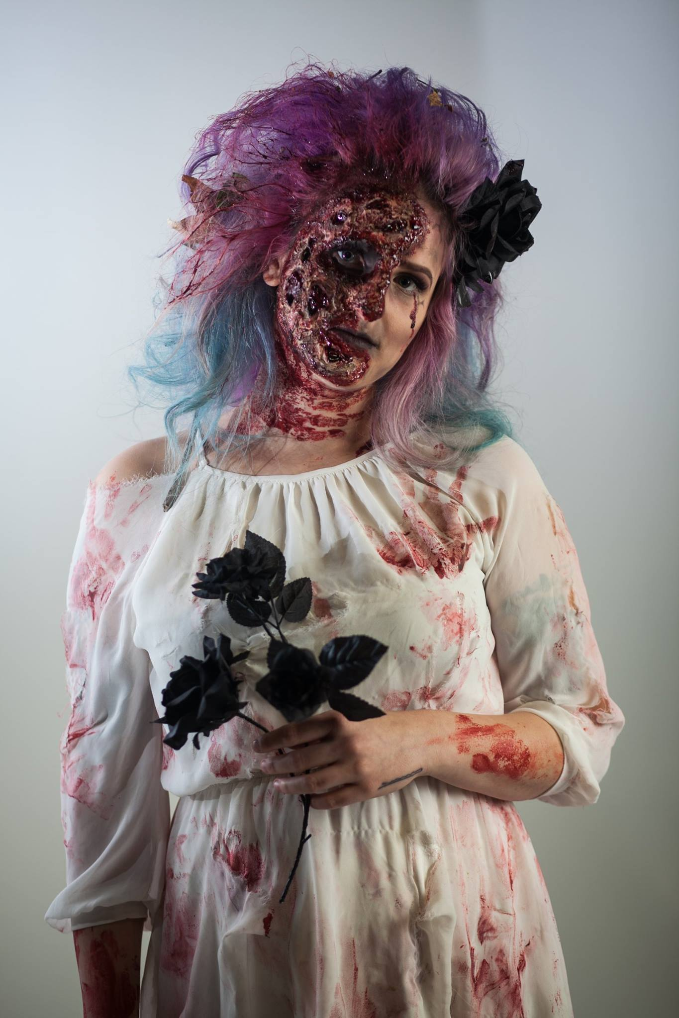 Zombie bride Halloween makeup