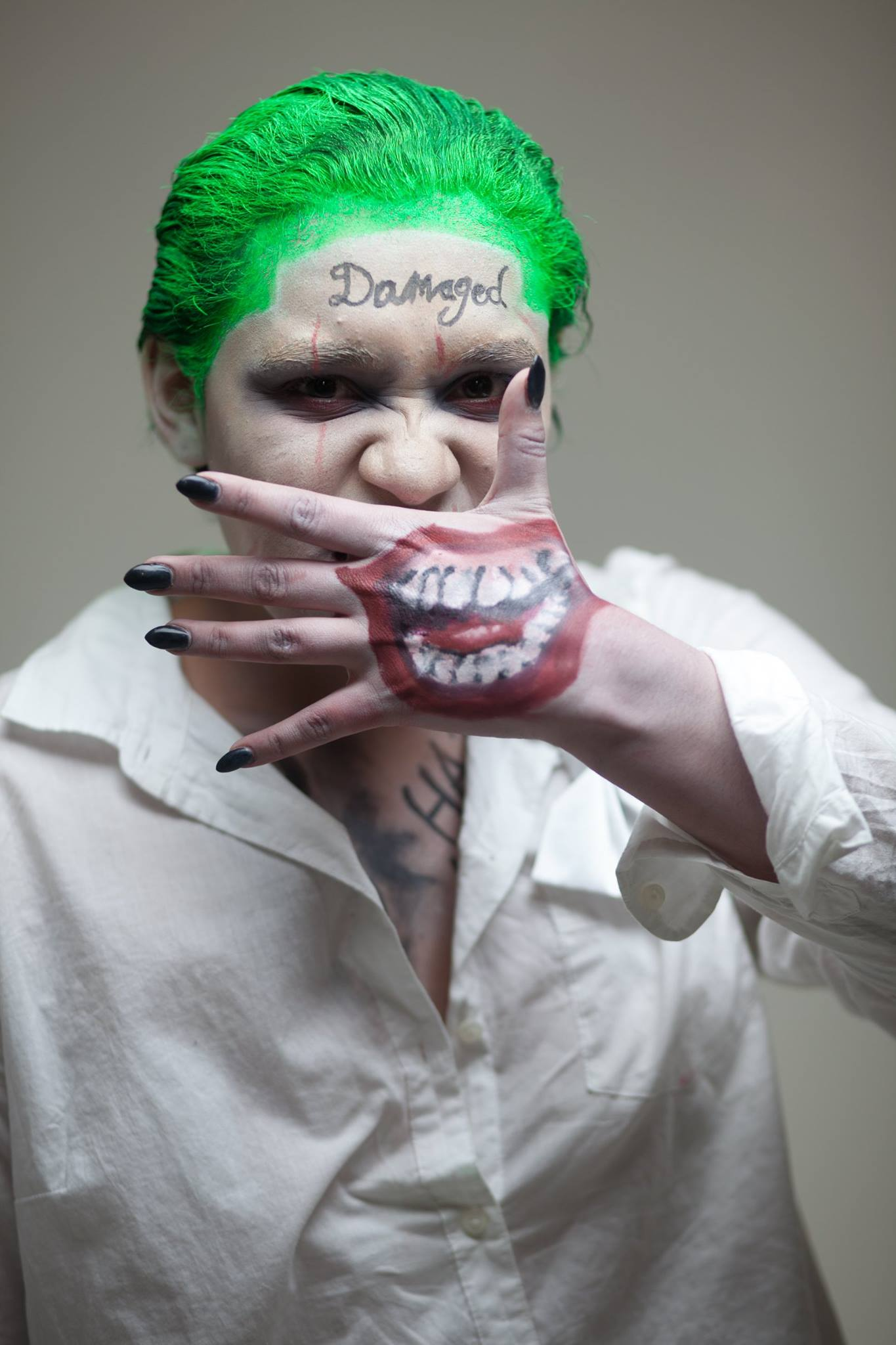 Halloween Joker Makeup