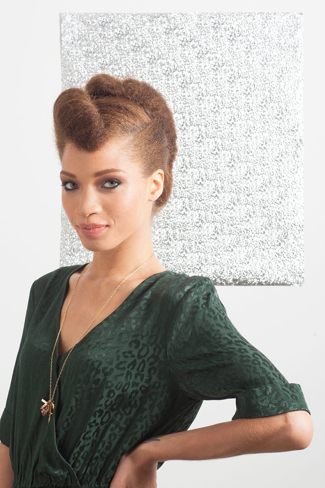 """classic """"I Love Lucy"""" updo"""