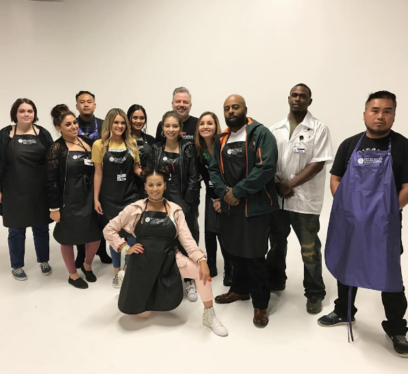 Frederico Beauty Institute students in their casual wear to raise awareness.