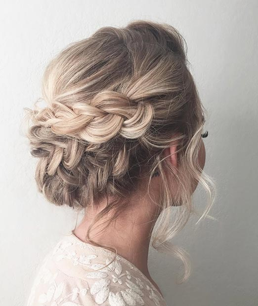 Prom hair - romantic braided updo