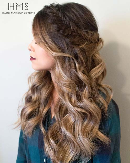 Prom hair - beautiful, loose waves