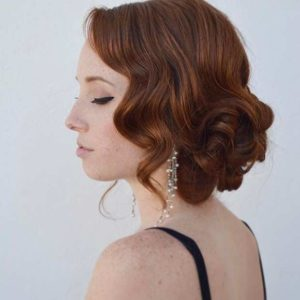 Prom hair - vintage side swept waves