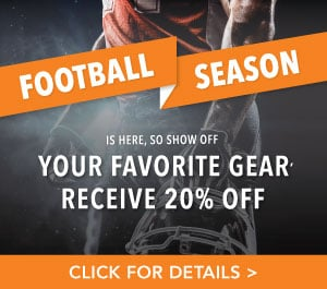 Football season is here so wear your favorite gear and receive 20% off your service