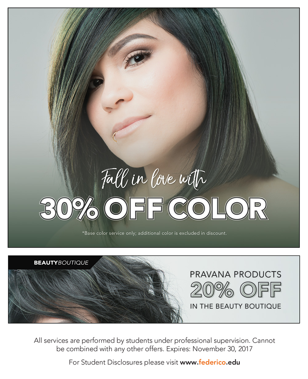 November promotions 30% off colors
