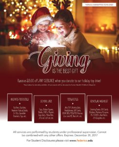 December Promotion - Giving is the best gift
